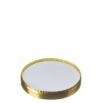 TYPE S75/94/105LID 118mm White/Gold Snap Over Lid